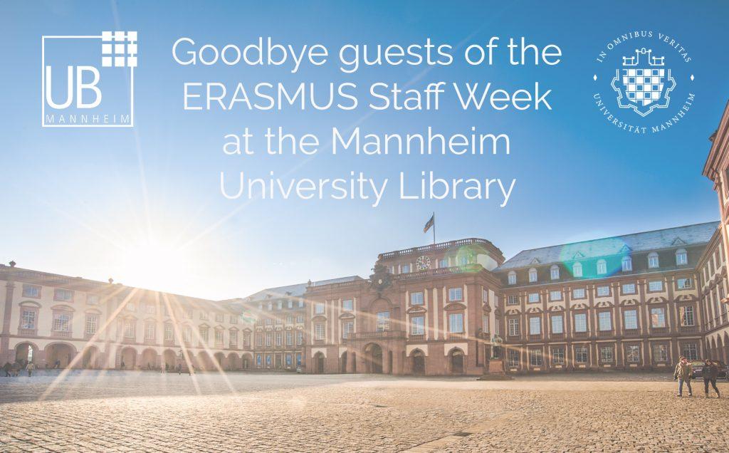 Goodbye ERASMUS Staff Week Guests