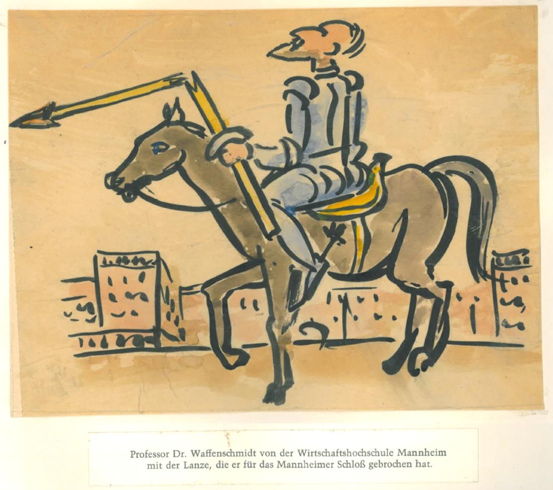 Karikatur von Hans Wingler (1896-1981)