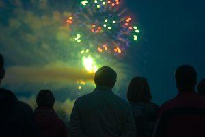 Feuerwerk Schloss in Flammen